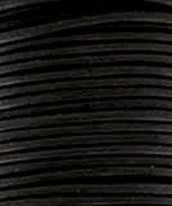 Leer 1mm rond zwart