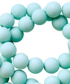 Acryl kralen mat 6mm faded turquoise
