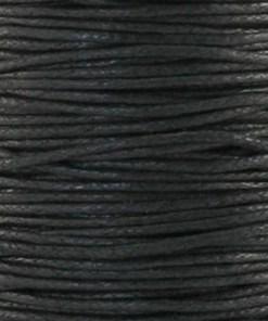 Waxkoord 1.0mm Zwart (1M)