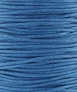 Waxkoord 0.5mm Blauw (1M)