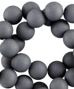 Acryl kralen mat 6mm Cool grey