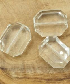 Glaskralen crystal 15x20mm facetgeslepen