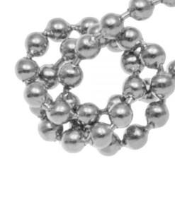 Stainless Steel Bolletjesketting (1.5 mm) Antiek Zilver (1M)