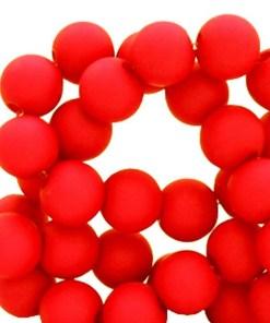 Acryl kralen matt 4mm Red