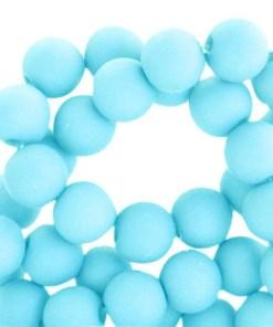 Acryl kralen matt 4mm Aqua blue