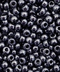 Miyuki rocailles 8/0 Metallic gunmetal black 8-451