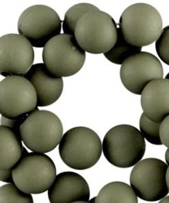 10mm acryl kralen matt Army green