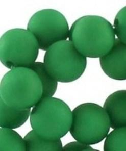 10mm acryl kralen matt Classic green