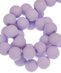 Acryl kralen mat soft lavendel