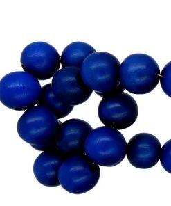 Houten kraal gelakt Hollands blauw