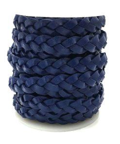 Plat gevlochten 12mm DQ Donkerblauw