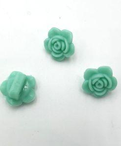 Acryl kraal bloem Licht groen 7x14mm