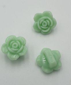 Acryl kraal bloem Mintgroen 7x14mm