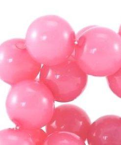 Acryl kralen licht roze 10mm