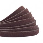 Suède DQ plat 5mm Donker bruin