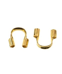Draadbeschermers (5 x 4 x 1 mm) goud