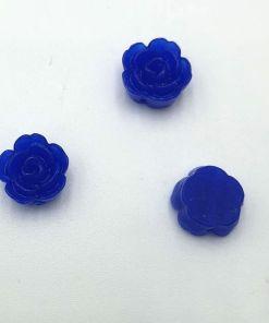 Acryl kraal bloem Kobalt blauw 10mm