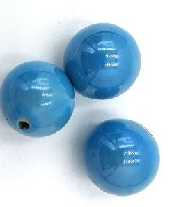 Keramiek kralen Blauw met glans 14mm