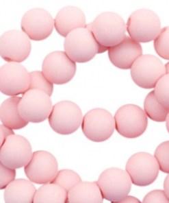 6mm acryl kralen matt Powder pink