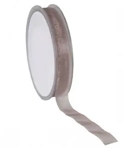Organza Taupe lint 15mm