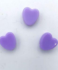Acryl kralen hartje 8mm Paars