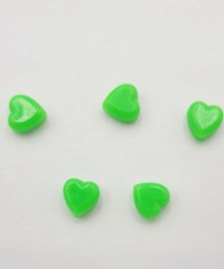 Acryl kralen hartje 6mm Neon Groen