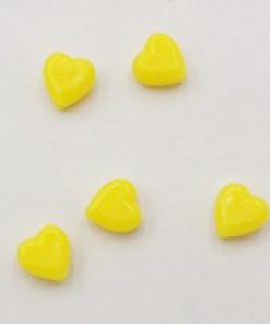 Acryl kralen hartje 6mm Geel