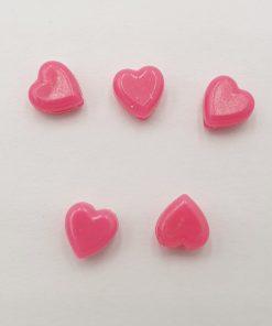 Acryl kralen hartje 6mm Fuchsia roze