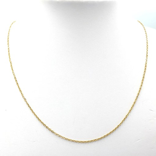 Roestvrij stalen (RVS) Stainless steel ketting Mix & Match Goud (50cm)