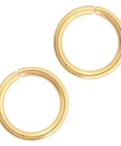 Roestvrij stalen (RVS) stainless steel onderdelen buigring 3mm Goud