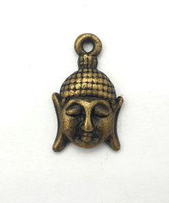 Metalen bedel buddha 18x12mm brons