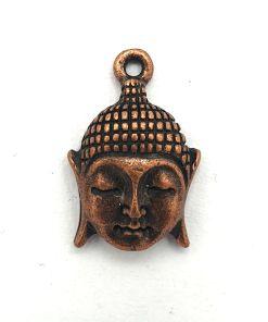 Metalen bedel buddha 18x12mm koper