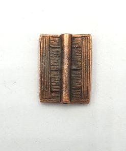 Metalen kralen rechthoek 25x20mm koper