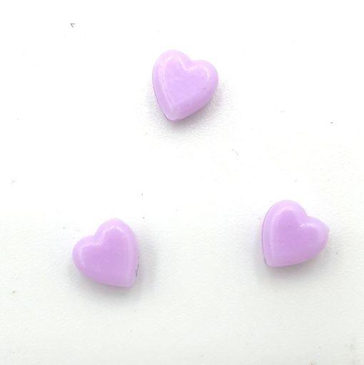 Acryl kralen hartje 6mm Lavendel