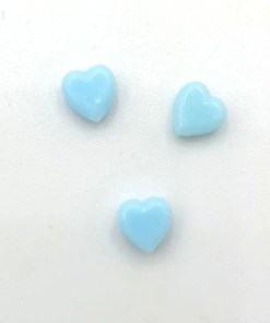 Acryl kralen hartje 6mm Lichtblauw