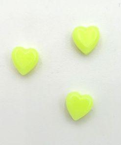 Acryl kralen hartje 6mm Neon geel