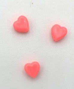 Acryl kralen hartje 6mm Zoet roze