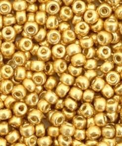 Miyuki rocailles 8/0 Duracoat galvanized gold 8-4202 (5gr)