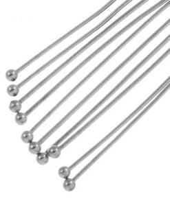 Stainless Steel Nietstiften Bol (40 mm) Antiek Zilver Dikte 0.7 mm