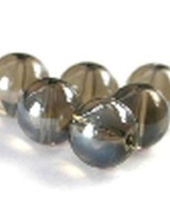 Glaskralen glans Black diamond 10mm