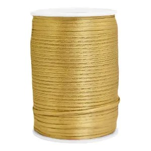 Satijn draad 1mm Gold