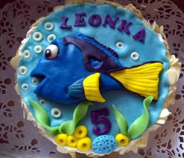 Dětský dort s rybičkou