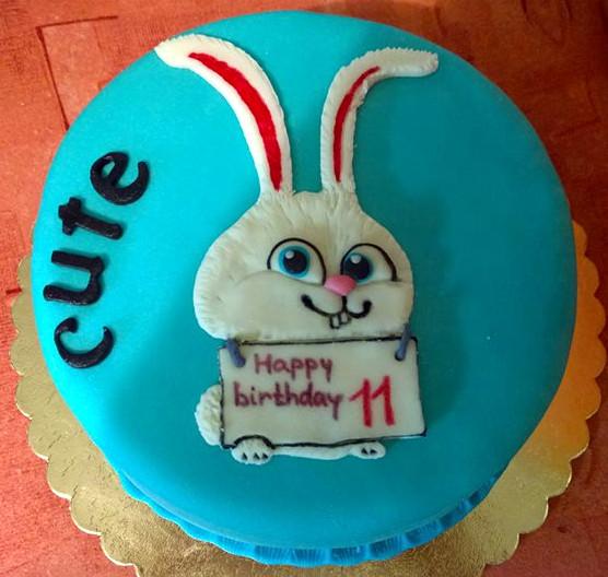 Dětský dort s králíčkem