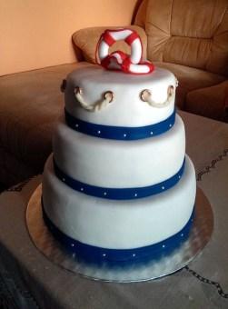 Námořnický svatební dort