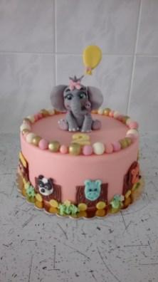 Dort sloník holčička