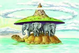 Земля стоит на трех слонах