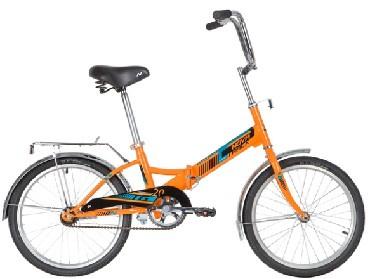 """Велосипед NOVATRACK 20"""" складной, TG20, оранжевый, тормоз ..."""