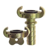 Claw couplings with rubber gasket