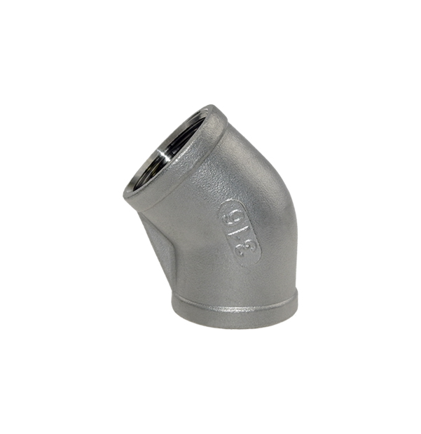 Elbow 45° female thread made of stainless steel