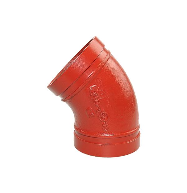 Nut-Bogen 45° Nr. 120 rot